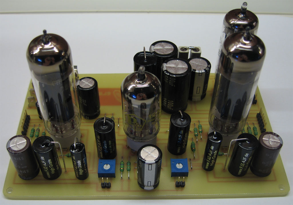 Single ended triode amplifier with EL84 - Bygselvhifi